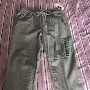 Boys old navy jogger pants size 10-12 never worn